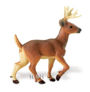 Safari Ltd. 291229 Whitetail Deer Buck Toy Wild Forest Animal Figurine