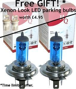 H4 PIAGGIO/VESPA Beverly 500 QUALITY XENON LIGHT BULBS