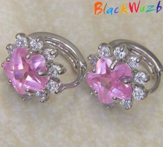 pink hoop earrings in Earrings