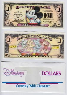 Disney Dollar: Mickeys 80th Anniversary $1 2008 D series Walt