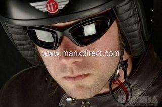 74 GOGGLES KIT 3 X LENSES PAIR GLASSES CAR MOTORCYCLE SIDECAR TRIKE