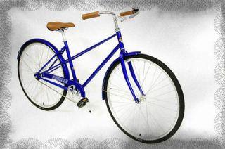 ESSEX CITY BIKE ROAD BIKES 700C SINGLE SPEED Womans BICYCLE 49cm BLUE