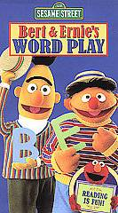 Sesame Street   Bert and Ernies Word Play VHS, 2002