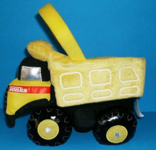 Tonka Dump Truck Construction Big Plush Candy Easter Egg Basket Yellow