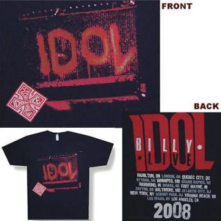BILLY IDOL SPRAYPAINTED AMP 08 TOUR BLK T SHIRT M NEW