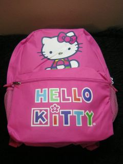 New pink Hello Kitty Sanrio back pack book bag school supplies