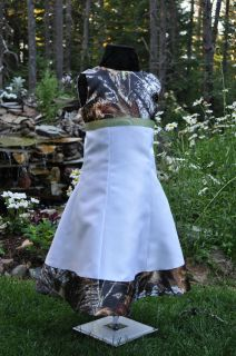 NEW Camo Wedding dress/childs flowergirl  SATIN CAMO