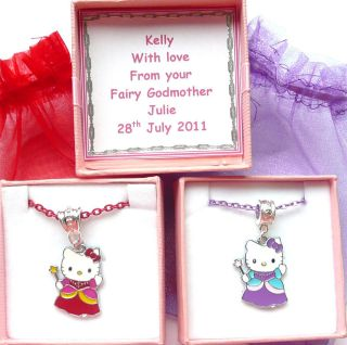 Fairy Godmother Necklace Personalised Box Bridesmaid, Birthday Gift