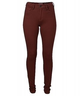 French Connection Winter Lily Bitter Plum Burgundy Maroon Skinny Jeans