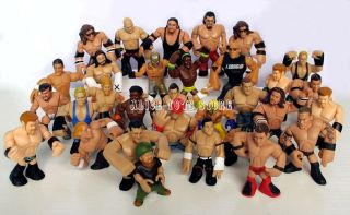 WWE WWF Wrestling RUMBLERS action figure figurine Random 15pcs