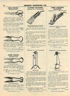 1941 Stewart Sheep Shearing Machines Shears Clippers ad