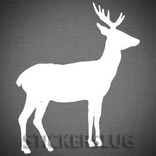WILD DEER vinyl decal sticker   CUSTOM color and size forest hunting