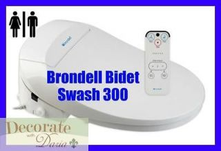 BRONDELL 300 BIDET TOILET SEAT ELONGATED Swash Remote Heated Water