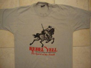 Vintage REBEL YELL Bourbon Whiskey billy idol T Shirt L