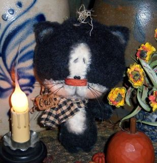 Primitive Black Cat Halloween Ornie Doll Pattern #608