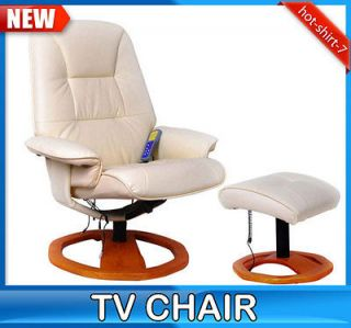 New White Office TV Recliner Massage Chair Professional Leather With