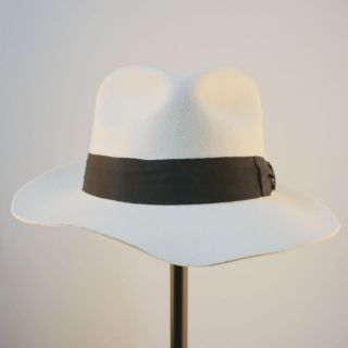 JACKSON White&Black Hats Smooth Billie Jean Classic Fedora WOOL 2pcs