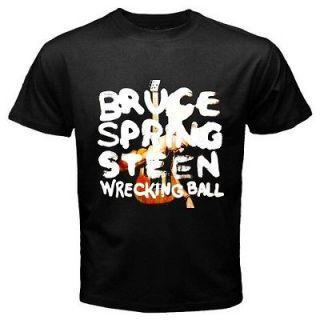 $ Bruce Springsteen 2012 Tour Black T Shirt All Sizes Av. bs10