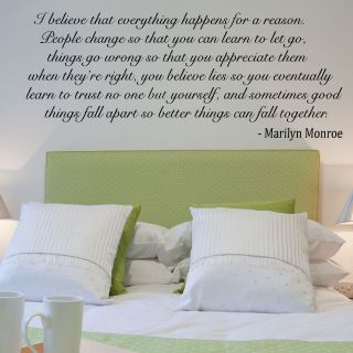 Believe   Marilyn Monroe Quote Wall Stickers Wall Decals Self