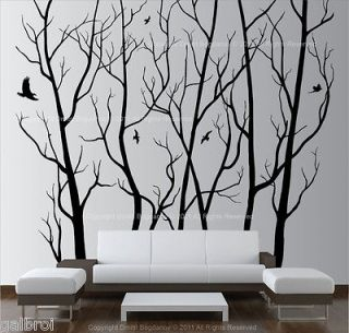 Large Wall Art Decor Vinyl Tree Forest Decal Sticker (choose size and