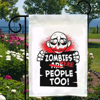 WERE PEOPLE TOO New Small Garden Flag Free Ship USA Home Club Biz