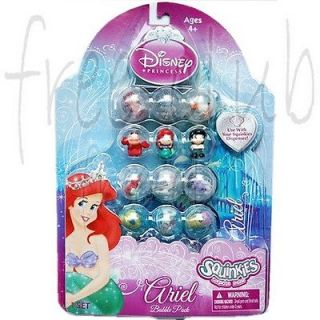 SQUINKIES Disney Princess ARIEL Bubble Pack Set (12pc)