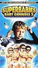 Superbabies Baby Geniuses 2 VHS, 2005, Family Edition