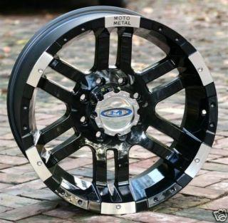 17 inch Black Wheels/Rims MOTO METAL 951 FORD f250 f350 trucks 8 lug