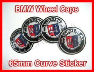 ALPINA BMW Wheel Center Cap Sticker 65mm (Curve)