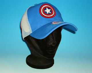 New Era CAPTAIN AMERICA SHIELD Adjustable Hat Trucker Marvel Comics