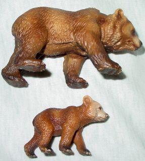 schleich GRIZZLY bear BROWN family LOT 2 kodiak ALASKAN american