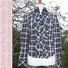 Burberry London (Japan) Blue Label Plaid Ruffle Front Shirt/Top 38/S