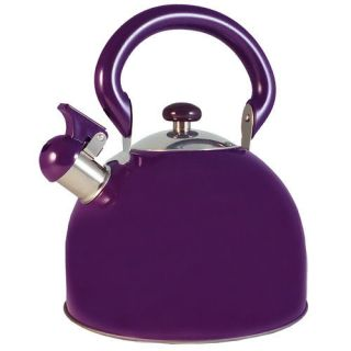 New Whistling Stainless Steel Purple Tea Kettle 3 Qt. on Sale.