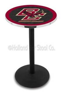 Boston College Eagles 36 or 42 Tall Black Round Base Pub Bar Table