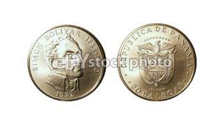 Panama 20 Balboas, 1972, Simon Bolivar 1783 1830