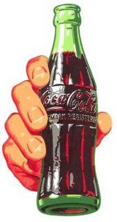 RARE Coca Cola 1950 s Hand & Bottle Soda Decal ORIGINAL Restore Coke