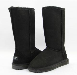 UGG CLASSIC LONG BOOTS BLACK PREMIUM AUSTRALIAN SHEEPSKIN