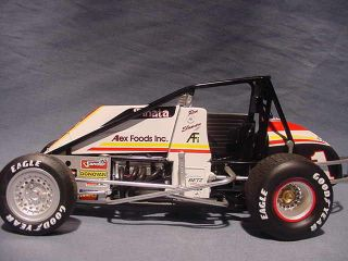 RON SHUMAN TAMALE WAGON CRA USAC VINTAGE WINGLESS SPRINT CAR GMP ALES