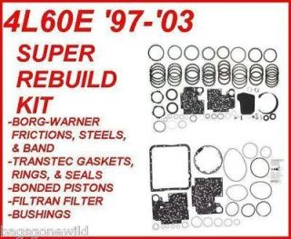4L60E TRANSMISSION SUPER REBUILD KIT WITH BORG WARNER & PISTONS 97