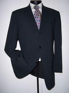 Superb Hugo Boss Blue Gray 3Btn Wool Suit 42 Reg