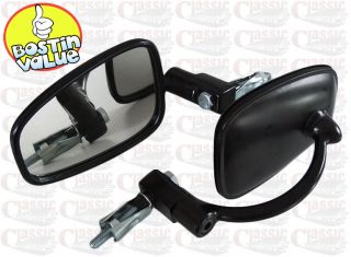 OF HANDLEBAR END MIRRORS IDEAL FOR TRIUMPH TR6 TROPHY T120 BONNEVILLE