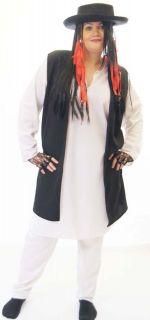 Boy George Fancy Dress Costume with Hat ALL PLUS SIZES