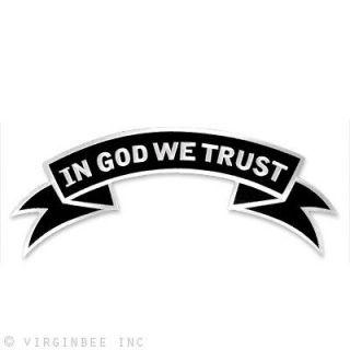 MOTTO IN GOD WE TRUST USA MOTTO BIKER JACKET ROCKER LARGE PATCH UPPER