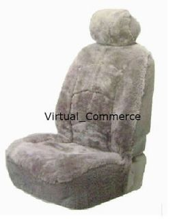Brookstone Genuine Australian Sheepskin Car Automobile Seat Cover