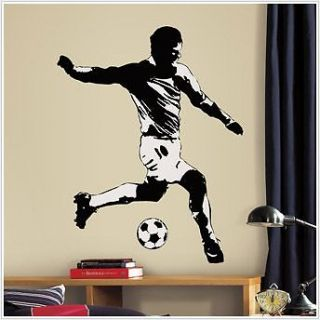 New Kids Giant SOCCER PLAYER Sports Wall Decal Sticker