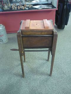 Antique Butter Churn Wooden Square Great Working Condition No Breaks