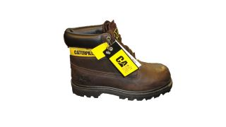 MENS CATERPILLAR HIGH TOP BOOTS COLORADO CHOCOLATE BROWN LEATHER