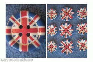 ENGLAND GREAT BRITTAIN UK UNION JACK FLAG 9 BLAZER JACKET PLASTIC