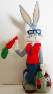 Bugs Bunny in Sunglasses Figurine Looney Tunes 3 1/2 inch Plastic Mini