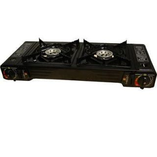 Portable Butane Camping Stove Double Burner New